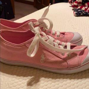 Pink Polo Ralph Lauren shoes